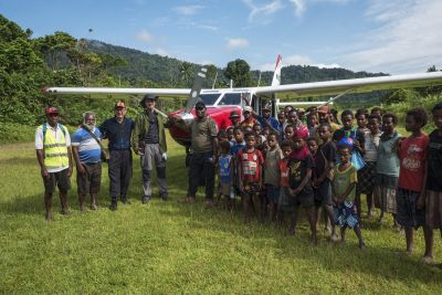 Just landed at the Nikse Village airstrip. Sepik Province, PNG.