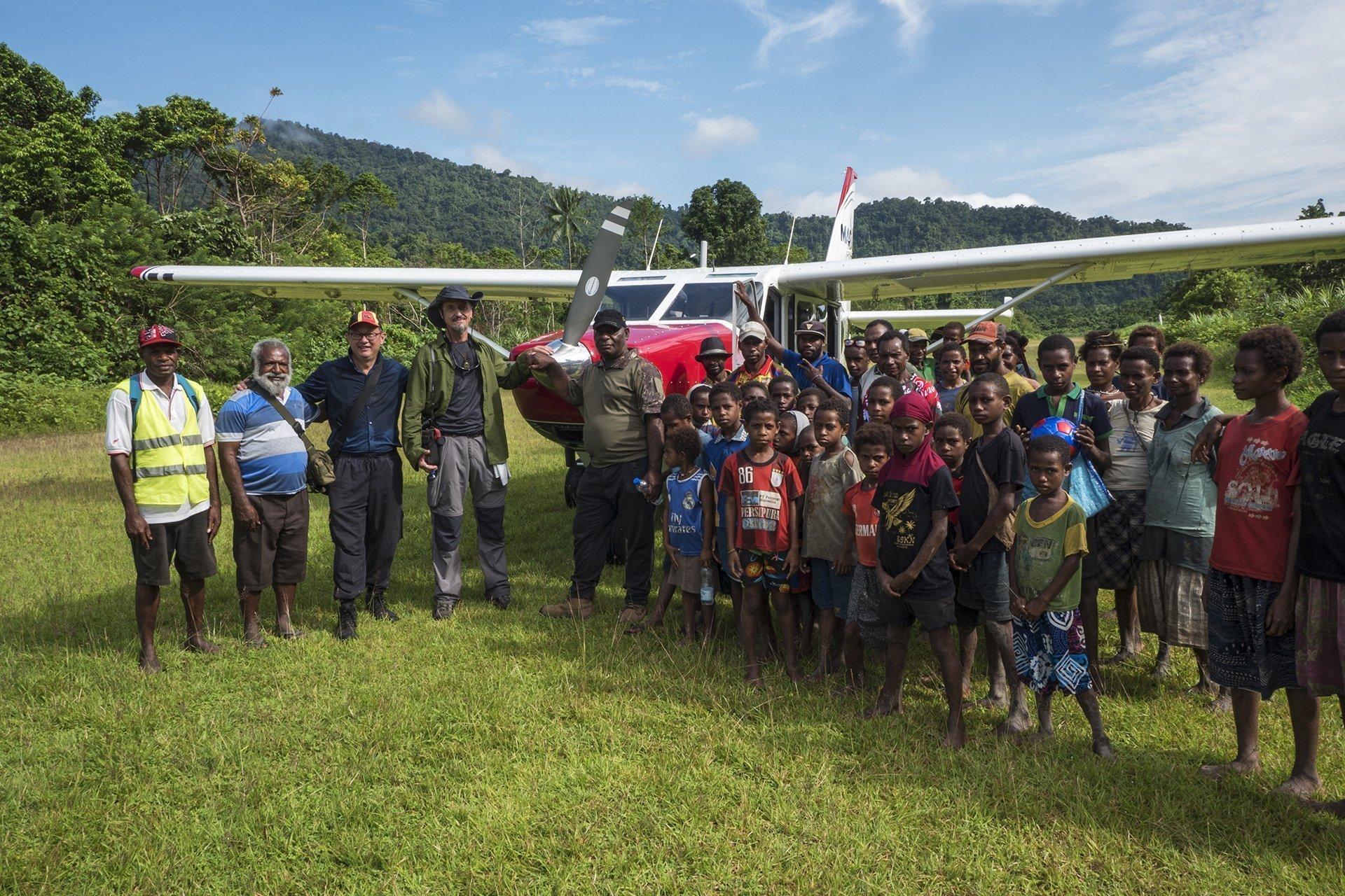 Just landed at the Nikse Village airstrip. Sepik Province, PNG.