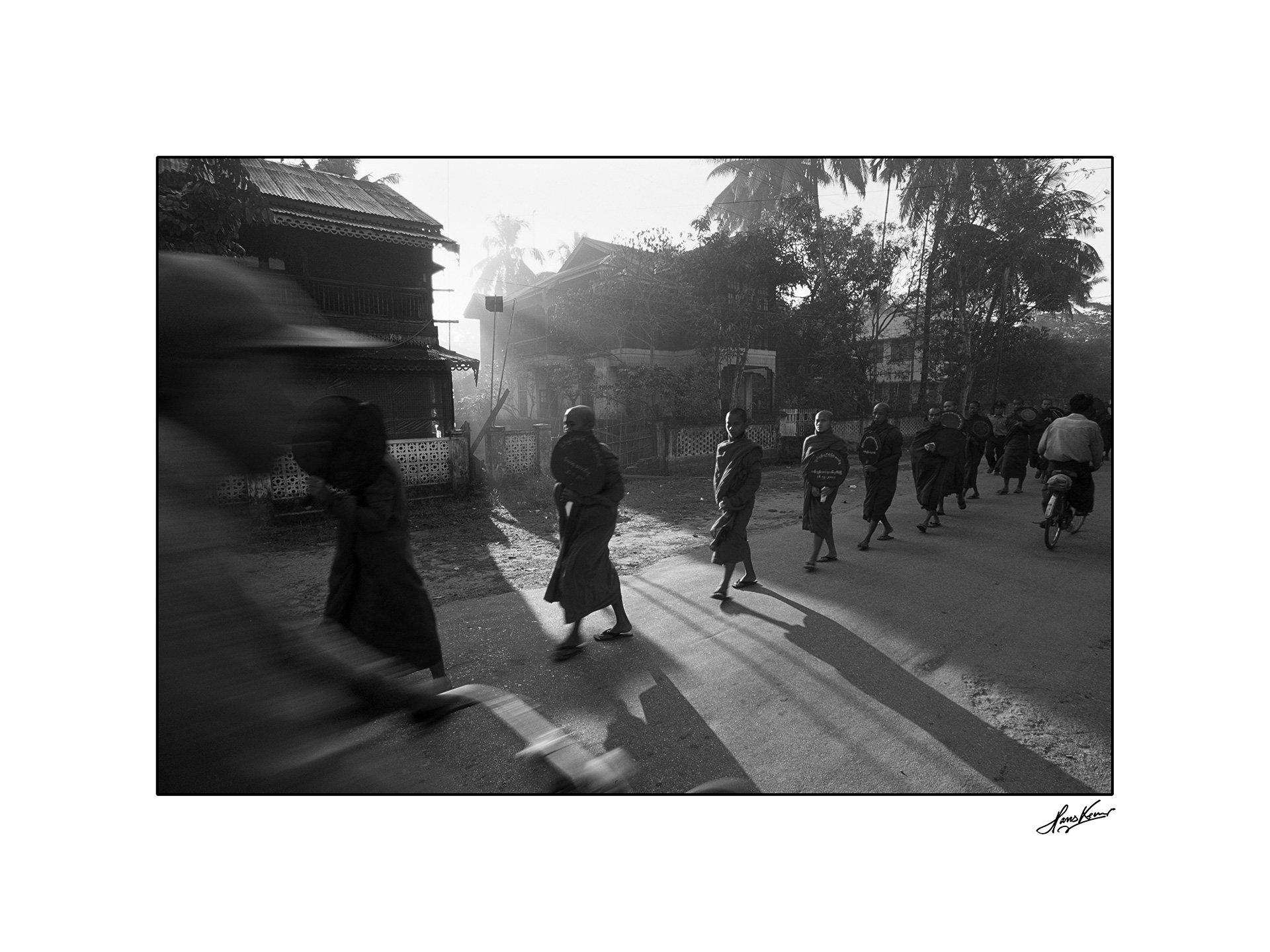 Alms round, Pathein, Myanmar, 2001