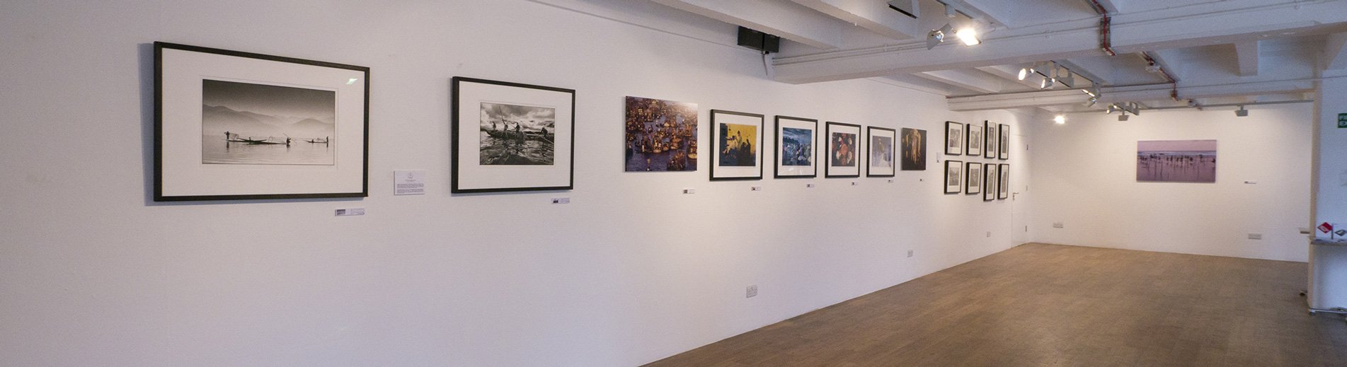 Hans' images on display in London.