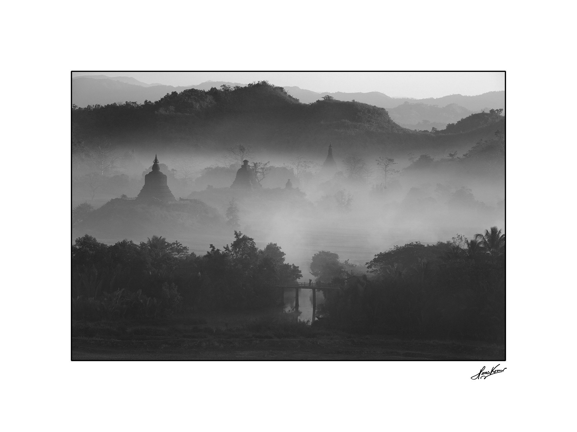 Morning mist, Mrauk U, Myanmar, 2012