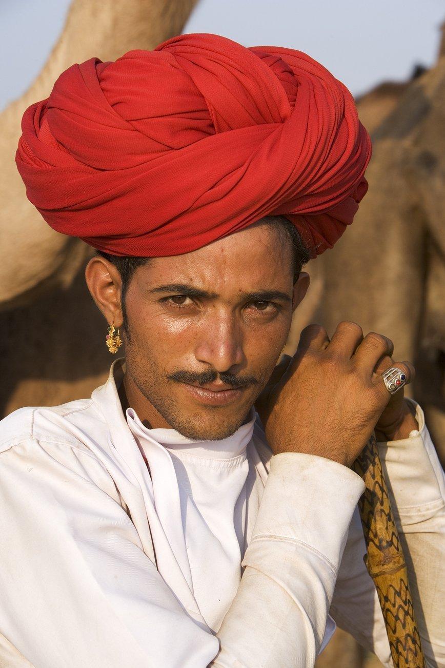 A trader at the Pushkar Camel Fair.