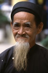 Old man in traditional dress, Hoi An, Vietnam, 2000