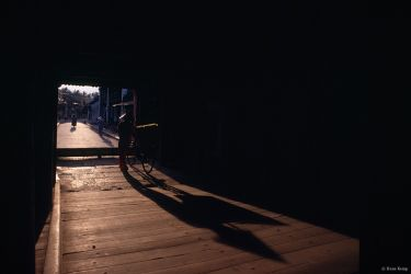 Afternoon shadows on the Japanese Bridge in Hoi An, Vietnam, 1999