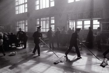 Train station, Hohhot, Inner Mongolia, China, 1990