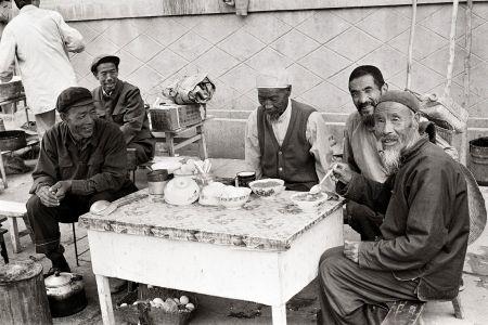 An outdoor restaurant in the city of Xian, 1988