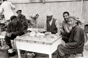 An outdoor restaurant in the city of Xian, 1988