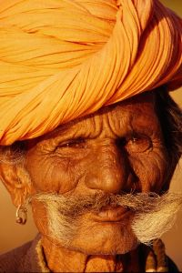 Moustached man, Rajasthan, India, 1995