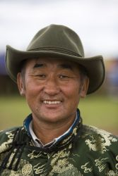 Man at horse race festival, North East Mongolia, 2009