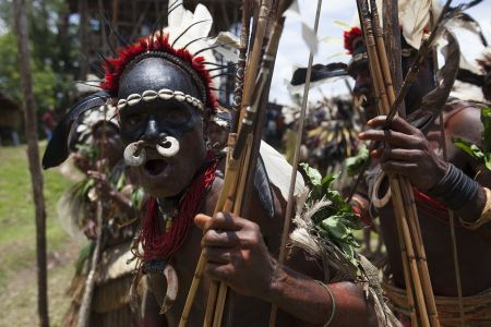 Sing-sing in Sepik province, Papua New Guinea, 2016