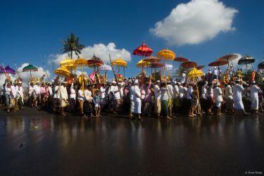 The Melasti Ceremony on Padanggalak Beach, Bali, 2009